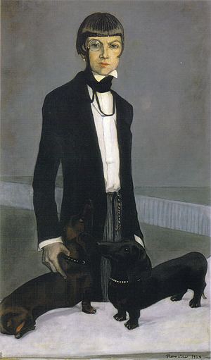 Romaine Brooks, Una, Lady Troubridge (1924). Courtesy Smithsonian American Art Museum, Gift of the Artist (Image from Melanie Taylor's article)